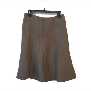 Fit & Flare Tan Business Work Skirt